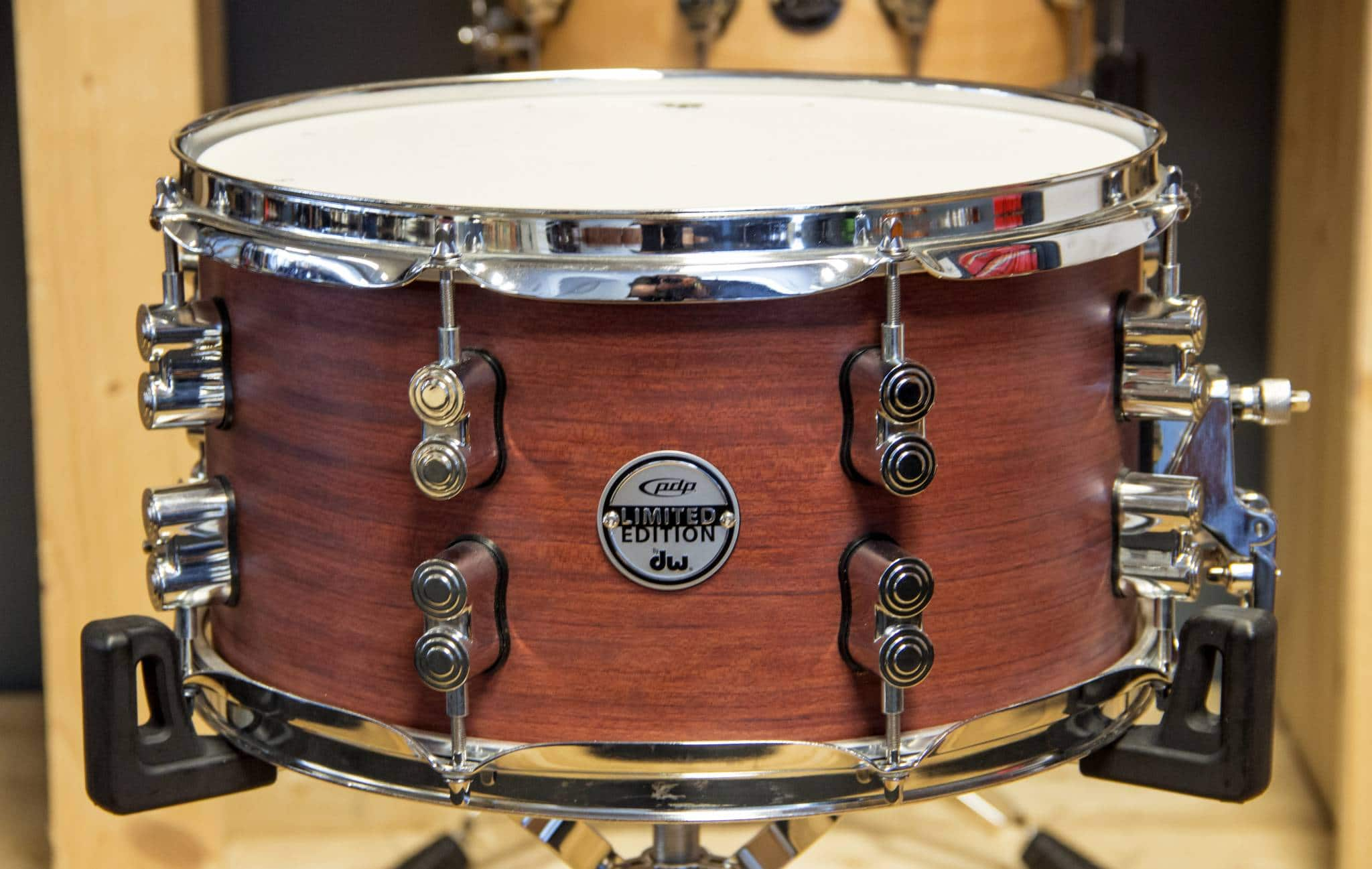 PDP (by DW) Limited Edition Bubinga/Maple/Bubinga snaredrum